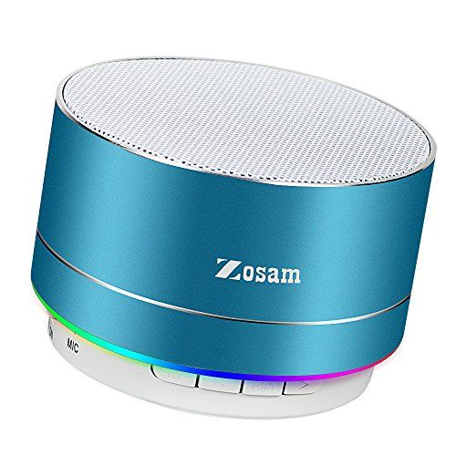 Zosam Portable Wireless Bluetooth Speaker Superb HD Sound &Enhanced Bass MINI Stereo Outdoor Speaker with Built-in Mic and SD/TF Card Slot for iPhone iPad PC Cellphone (Blue) - Product Description Item size: 2.4*2.4*2inches Output Power: 3W Frequency response: 280HZ-16KHZ Battery Capacity: 520mAh Playing time: about 5 hours Chatting time: about 5 hours Working Range: 32 ft Weight: 230g Why You Choose Our Bluetooth Speakers? --Warranty: 12-month worry-free technical supp...