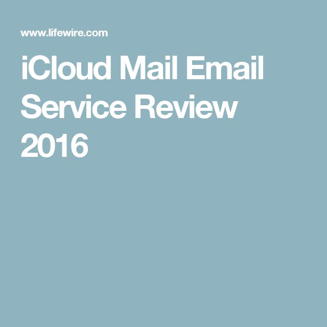 iCloud Mail Email Service Review 2016