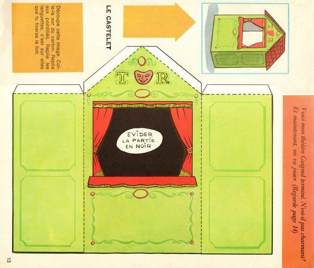 Construir un Teatro de Papel.Recortable-Plantillas Guiñol -Titeres - enrHedando