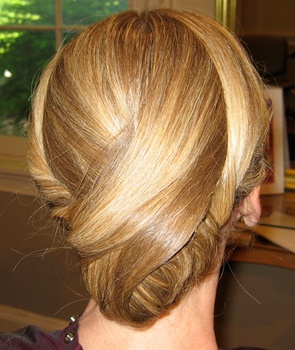 Casual but finished chignon