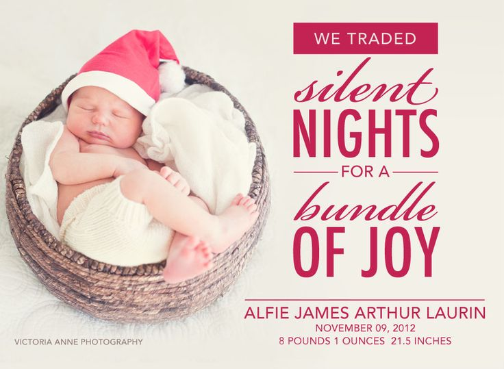 Cute Christmas Baby Announcement