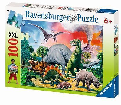 Dinoszauruszos puzzle 100 db XXL AKCIÓ! (Ravensburger) | Pandatanoda.hu Játék webáruház