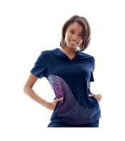 Scrubs - New Balance On Call scrub top Aerial        Invisible zippered pockets      NB Branded Twill Tape      V-neck      Anti-Wrinkle      Set in sleeves      Fabric: PerforMed™ Core - 62% polyester/32% rayon/6% spandex