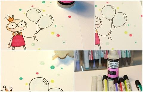 Fake it! .  Free tutorial with pictures on how to make a mixed media in under 5 minutes by papercrafting and creating with glossy accents, paper, and markers. How To posted by Helle .  in the Papercraft section Difficulty: Easy. Cost: Absolutley free. Steps: 4