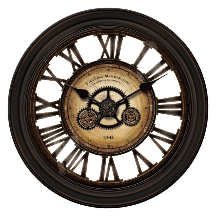 Clocks at Kohl s   Shop our full selection of wall clocks  including this  FirsTime Gearworks Round Wall Clock  at Kohl s. 14 best Wall Clock images on Pinterest   Firs  Tabletop clocks and