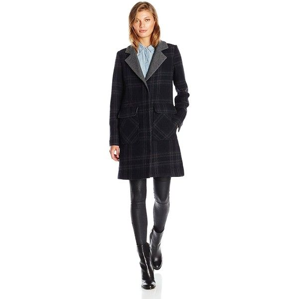 7 For All Mankind Women's Single Breasted Wool Boyfriend Coat with... ($165) ❤ liked on Polyvore featuring outerwear, coats, reversible wool coat, wool boyfriend coat, boyfriend coat, wool coat and single-breasted trench coats