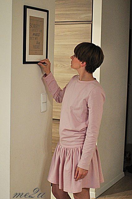 Quartz pink dress.