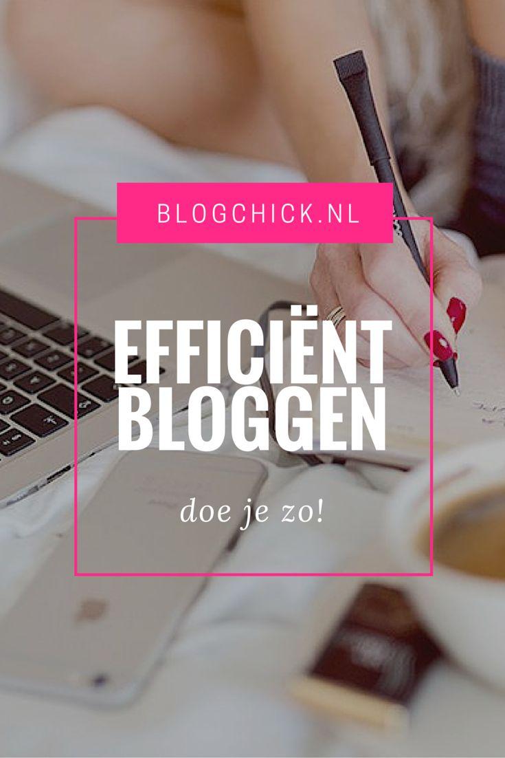 Bloggen is leuk, maar het is natuurlijk niet de bedoeling dat het elke minuut van je dag in beslag neemt. Het is daarom fijn om zo efficiënt mogelijk aan je blog te werken. Hoe? In dit artikel lees je een aantal tips die je daarbij kunnen helpen!