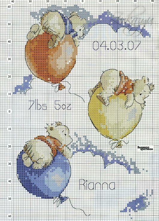 pooh bear cross stitch [image only]: