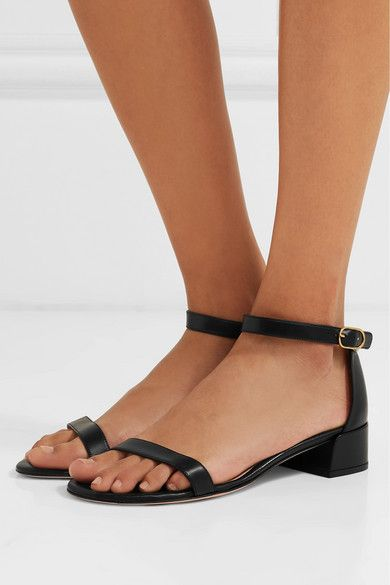 48bf6c7b9 Heel measures approximately 35mm  1.5 inches Black leather (Lamb)  Buckle-fastening ankle strap Made in Spain