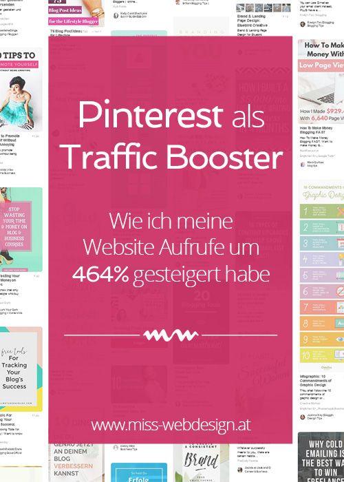 Pinterest ist der ultimativ Traffic Booster für deine Website. Mit dieser Strategie habe ich meine Website Aufrufe um 464% gesteigert. | miss-webdesign.at