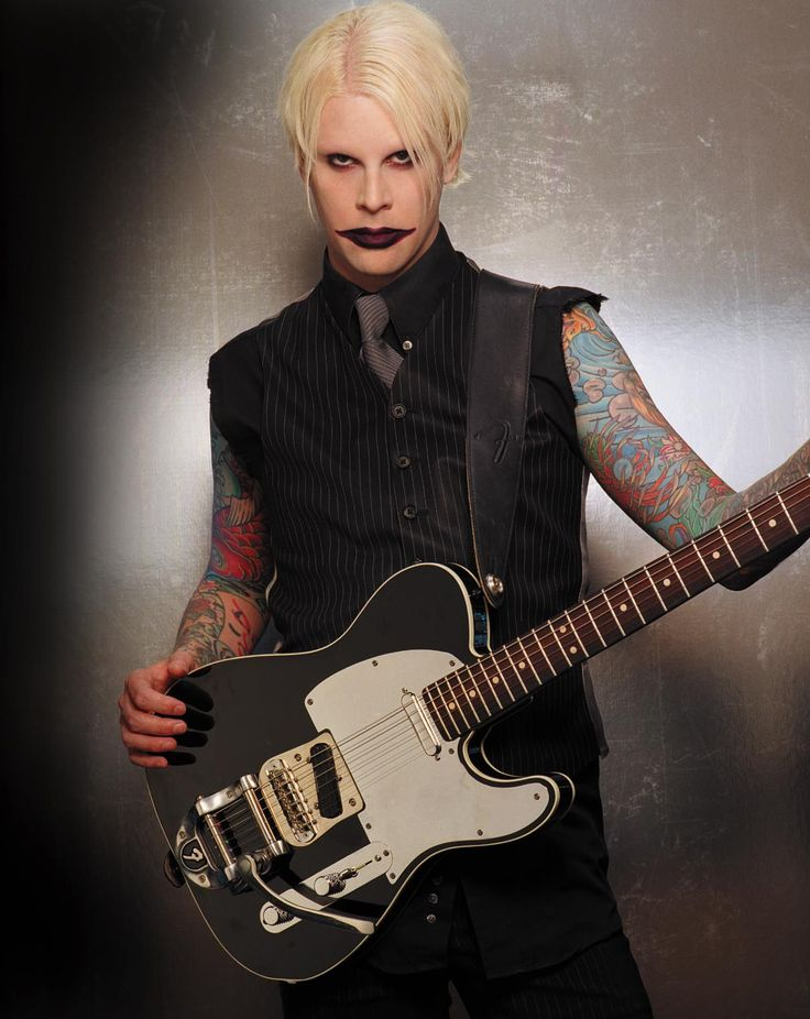 "John5. Former Marilyn Manson guitarist, now on tour with Rob Zombie. Amazing and radically diverse. His solo records range from country ""pickin'"" style guitar to metal. Met him at NAMM a few years back, really cool guy!"