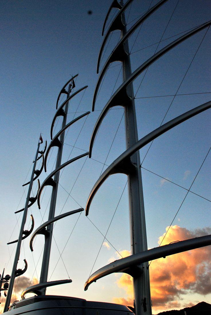 Maltese Falcon Masts Jpg 2592 3872 With Images Maltese Falcon Yacht Sailing Sailing Yacht