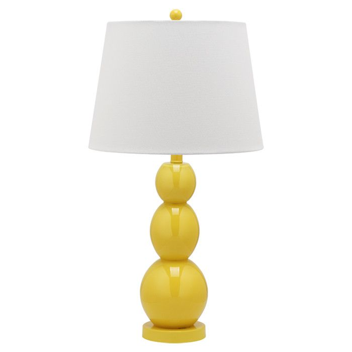 Yellow table lamp- love for a bedroom!