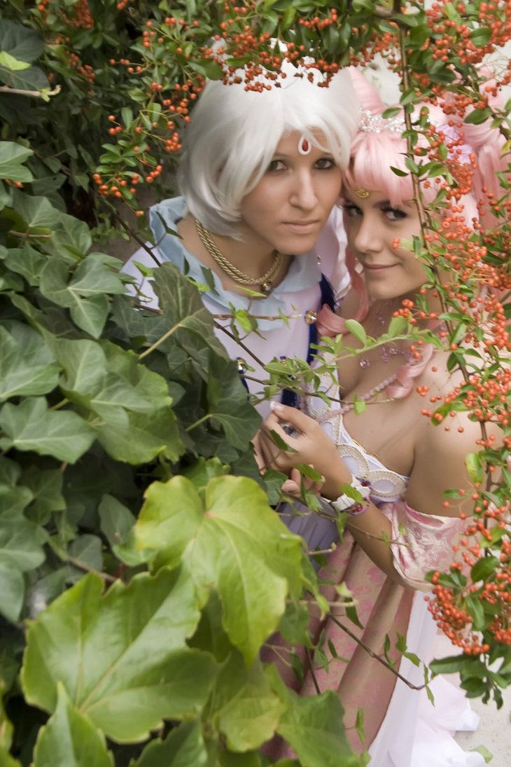 Chibiusa and Helios by mew-Keikei.deviantart.com on @DeviantArt