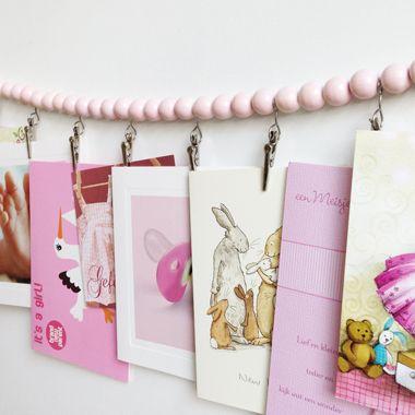 Roze geboorteslinger, super leuk voor je geboortekaartjes!