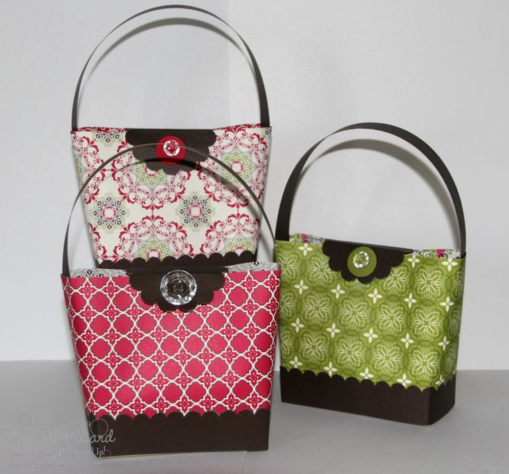 Jill's Card Creations: Everyone loves purses! Get 3 out of one sheet of DSP