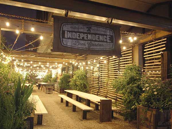The menu at Independence Beer Garden - opening Tuesday, June 15 on Sixth Street across from the Liberty Bell - is not a calorie-counter's dream. Who cares?