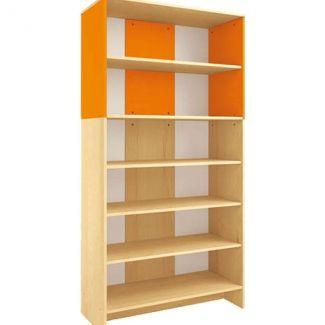 Modern hoge kast - Oranje - Met 2 sets deuren (1 met slot)
