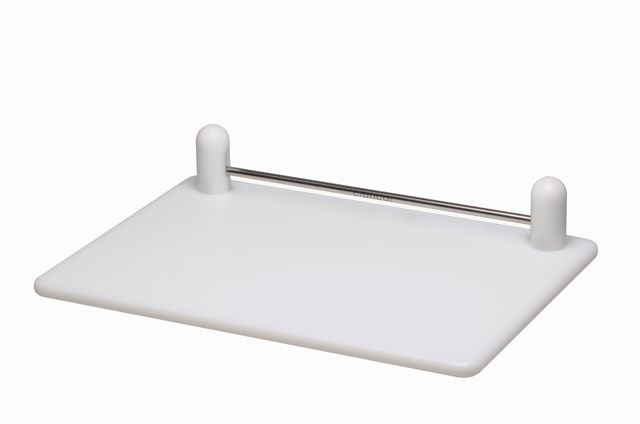 Cibocal Assist - food cutting board. A lighter weight model of the Classic, with the same  biased bar that enables anyone to cut, chop & slice easily & safely with very little effort.