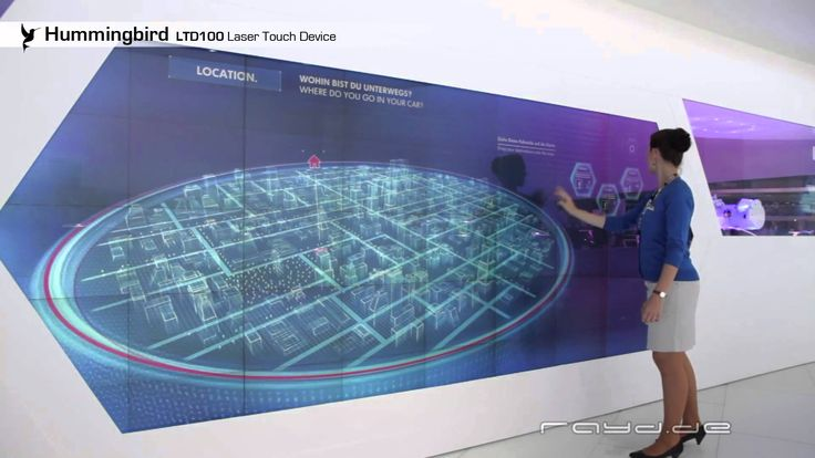Hummingbird-Laser touch device for interactive walls