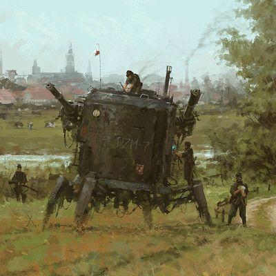 Jakub Rozalski Iron Harvest 13010216 In 2019 Retro
