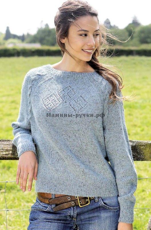 Вязаный спицами пуловер Brannagh от Мари Валлин