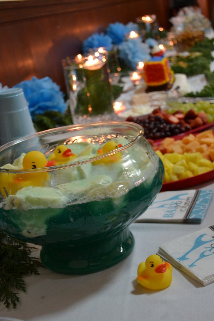 Baby Shower Boy Duckies In The Punch Bowl!