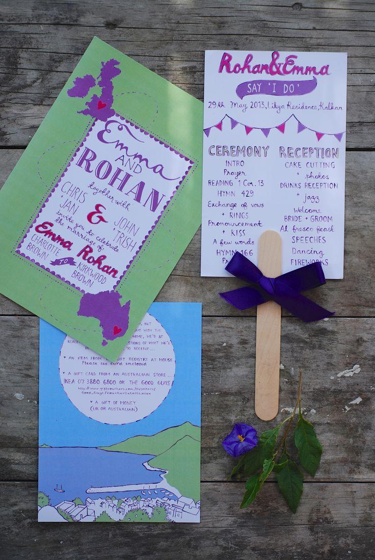 Custom wedding stationery - Emma + Rohan