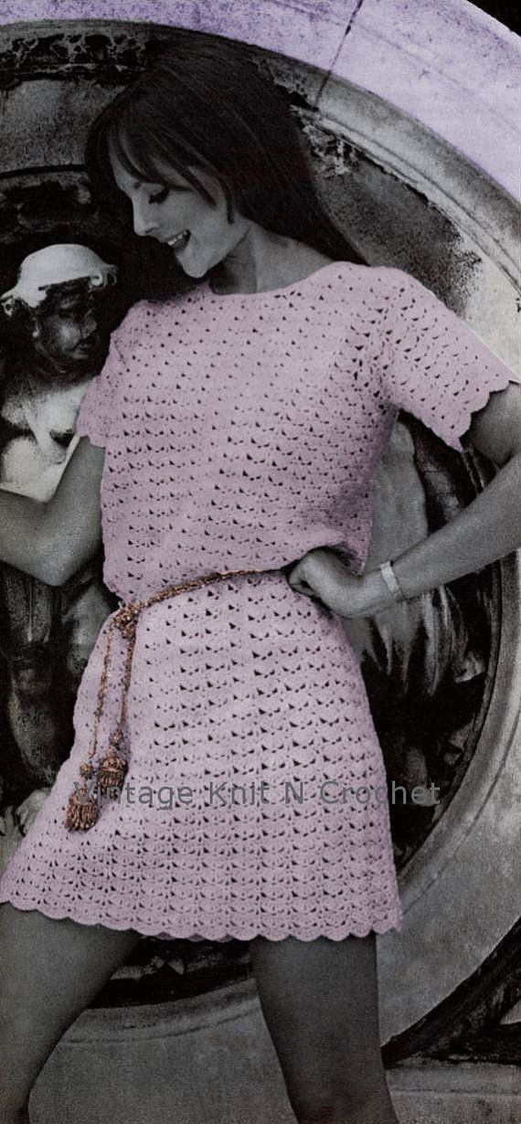 VKNC165  Lovely Little Vintage  Crochet Mother and Daughter Dress PDF Crochet Pattern - Emailed direct to you no waiting. £1.95, via Etsy.