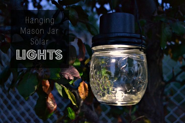 Hanging Mason Jar Solar Lights  •  Free tutorial with pictures on how to make a hanging light in under 20 minutes