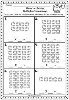 Multiplication Arrays Worksheet - FREEBIE | Array ...