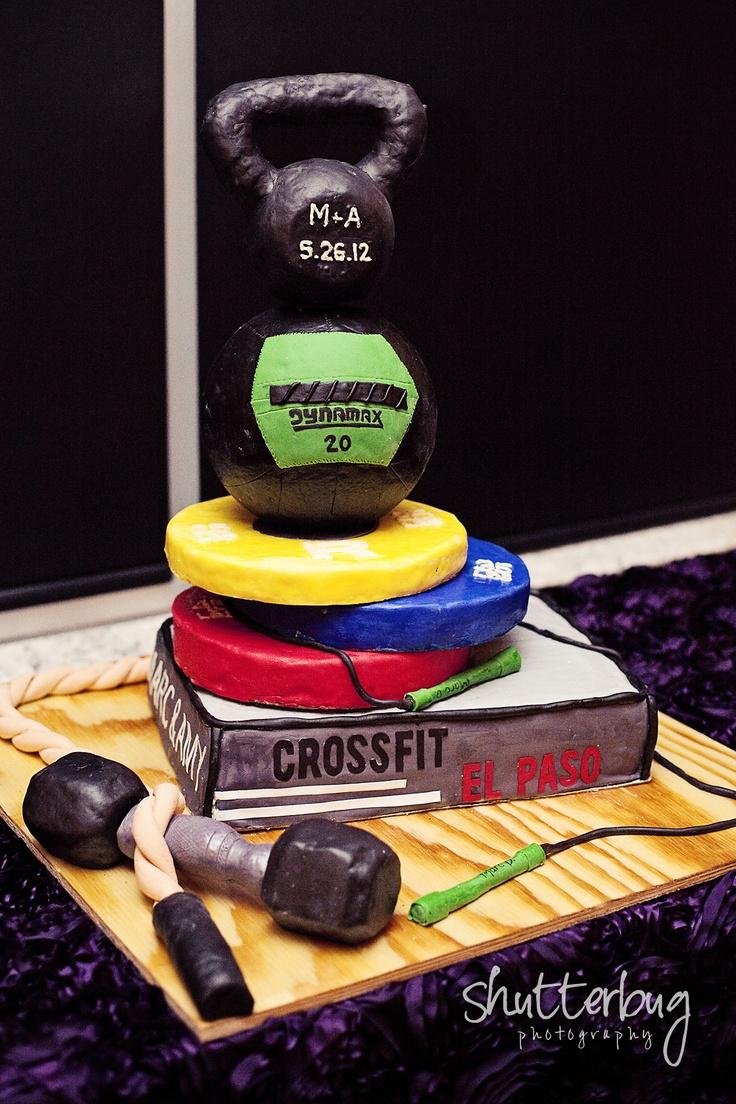 Crossfit cake - love it!  ...though I doubt it's Paleo.  lol!