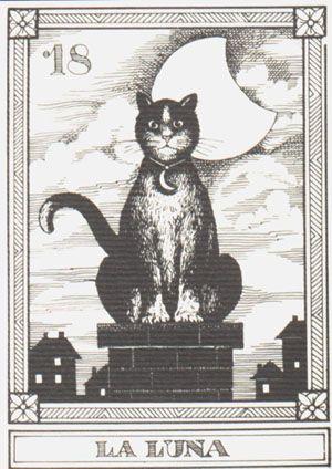 """Gatti Il Meneghello"", by Osvaldo Menegazzi. The deck of 22 tarot cards published in Italy in 1990."