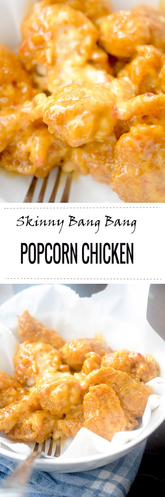 Skinny Bang Bang Popcorn Chicken #chicken