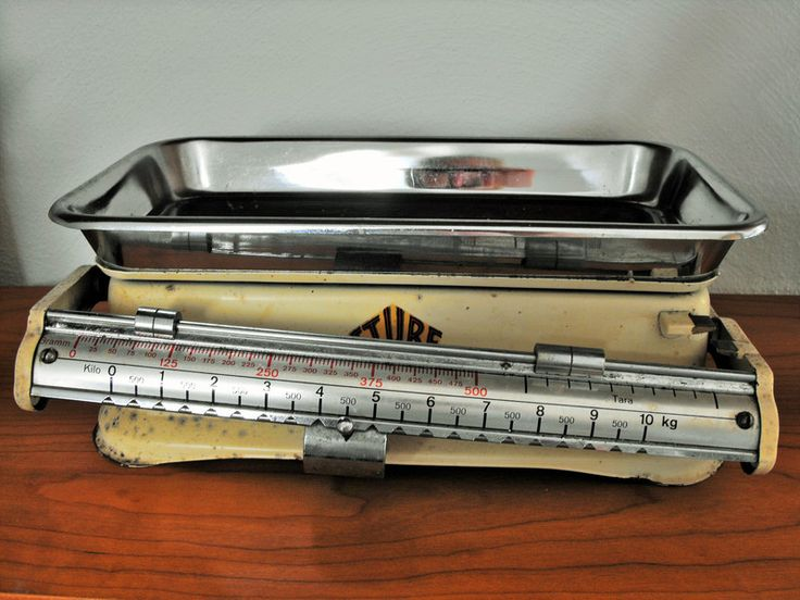 """Vintage Waagen - Vintage - alte Küchenwaage """"Stube"""" - ein Designerstück von frl-langstrumpf bei DaWanda"""