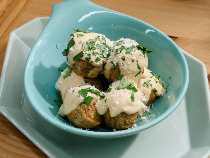 Turkey Meatballs with Chipotle Cream Sauce recipe from Marcela Valladolid via Food Network