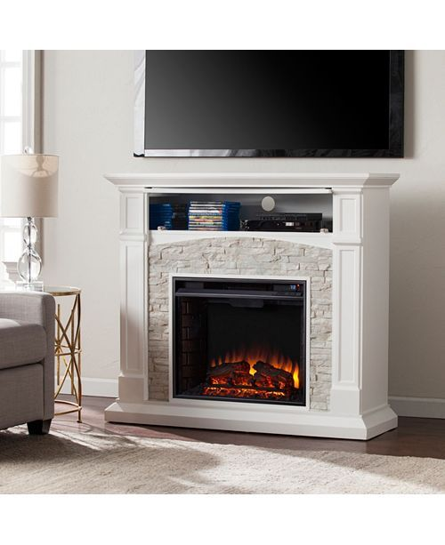 Chartier Fireplace, Quick Ship - White in 2019 | Ideas for