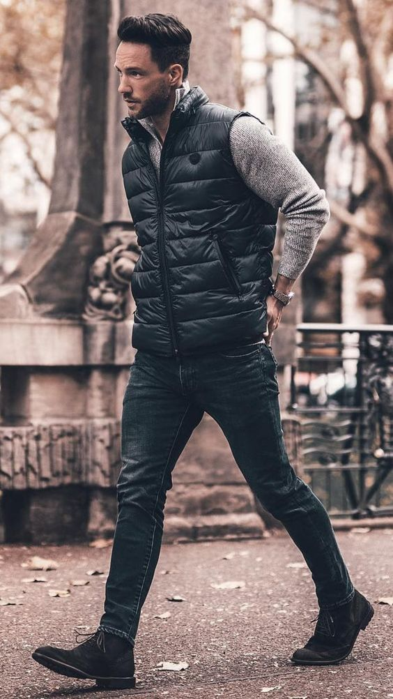 5 coolest winter outfits for men #winter #style #fallstyle #mens #fashion