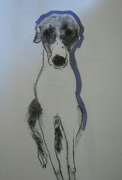 Whippet/Greyhound by Sally Muir?
