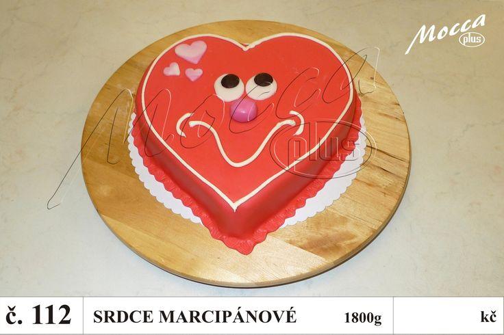 DORTY NA OBJEDNÁVKU   Valentýnské   Dort srdce marcipánové č.112 ...