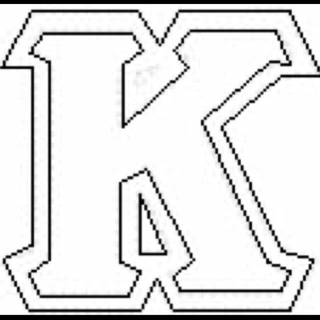 kappa stencil for crafting