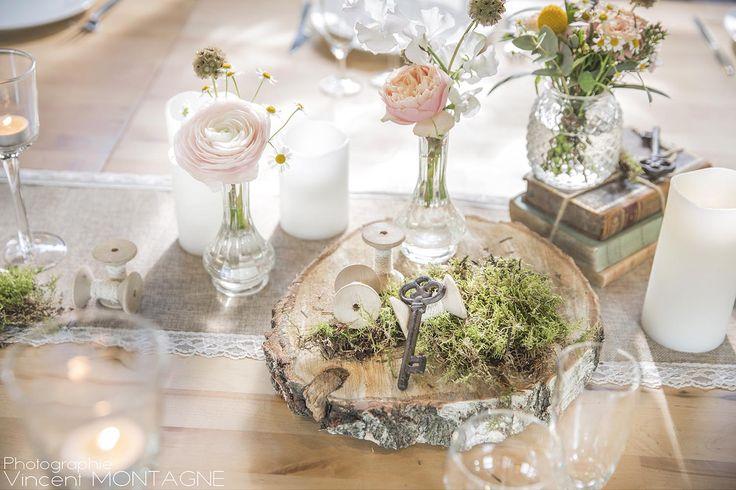 17 best images about centres de table on pinterest livres baroque and d day - Rondin de bois centre de table ...