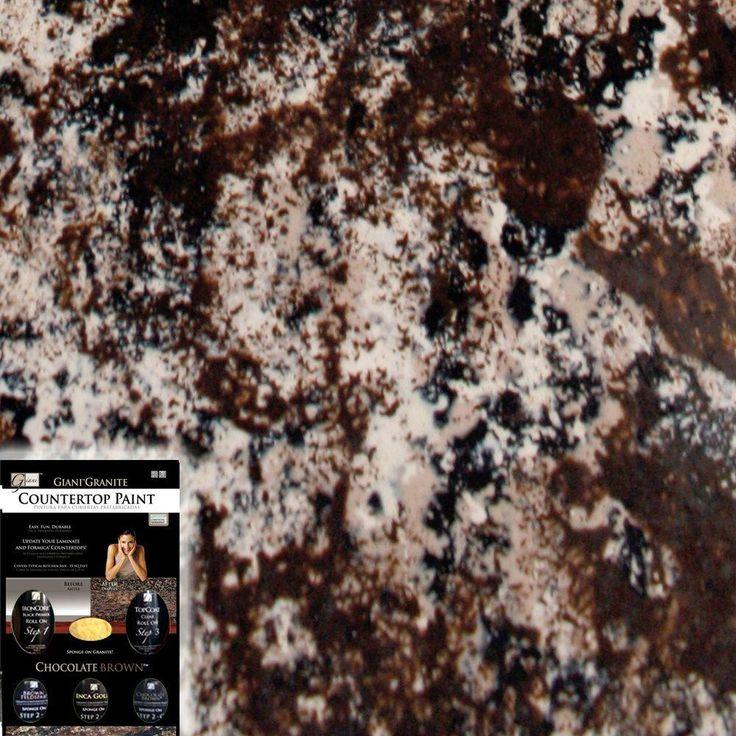 Giani granite chocolate brown countertop paint kit paint for Giani granite