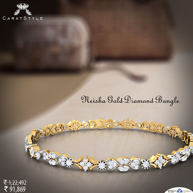 Bangle that would reflect your sense of style…#bangle #diamond #gold #diamondbangle #goldbangle #bangleonlineshopping