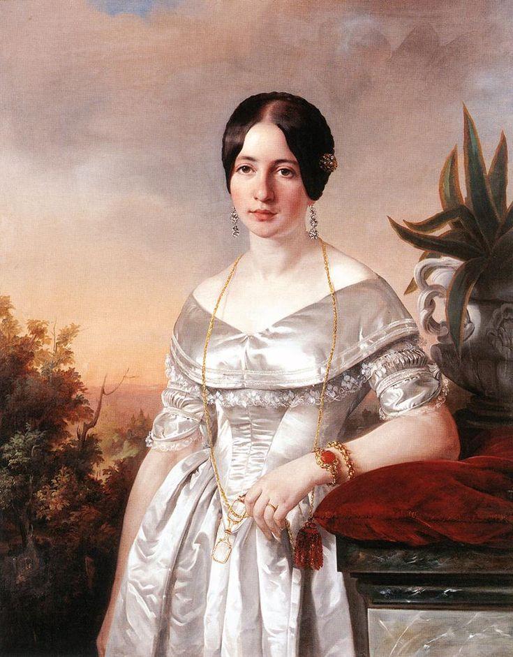 The Athenaeum - Lady with a Lorgnette (József Borsos - )