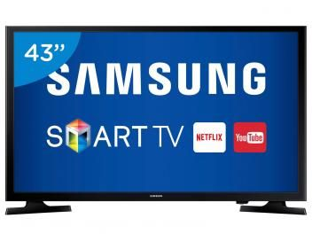 """Smart TV LED 43"""" Samsung Full HD UN43J5200 - Conversor Digital Wi-Fi 2 HDMI 1 USB"""
