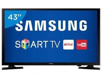 """Aproveite também o Festival de tecnologia pra você, VEM! #MAGATECH Smart TV LED 43"""" Samsung Full HD UN43J5200 - Conversor Digital Wi-Fi 2 HDMI 1 USB"""