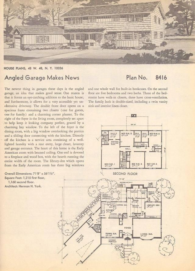 896 best images about historic floor plans on pinterest for Vintage garage plans