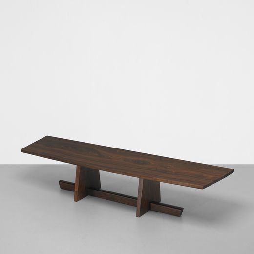 144: George Nakashima / Important Minguren I bench from Melody Woods III…